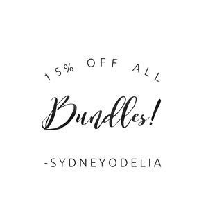 15% off 2 or more items! 💕